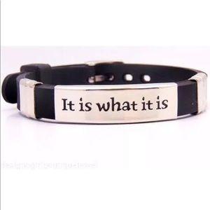 Jewelry - It Is What It Is Bracelet Stainless Steel Black